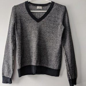 Wallace by Madewell V-Neck Sweater Grey Size XS